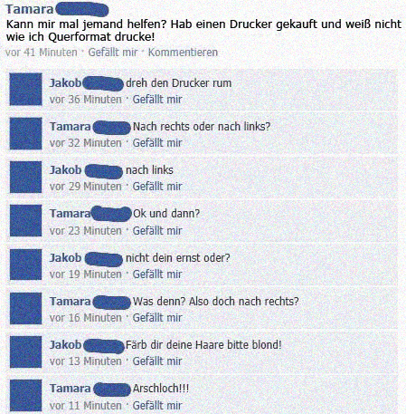 likefight webfail lustige facebook dialoge. Black Bedroom Furniture Sets. Home Design Ideas