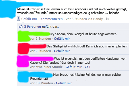 Facebook Freunde Fail