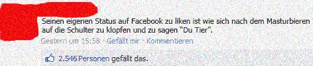 Eigener Facebook Status Liken