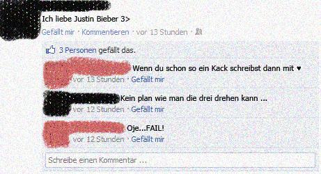 Bieber Fan Fail