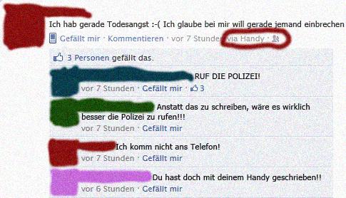 Polizei Facebook Fail