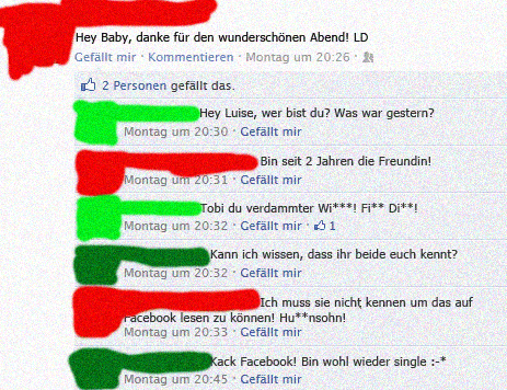 Dummheit in Facebook
